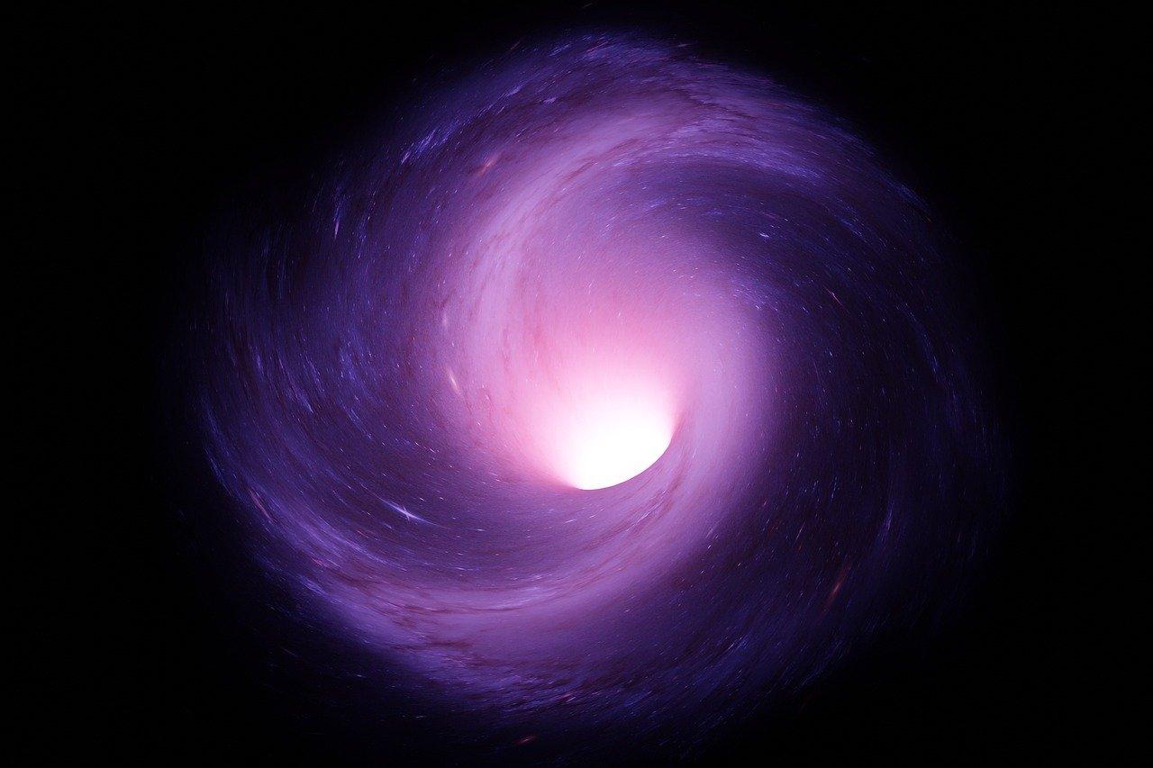 wormhole, galaxy, space